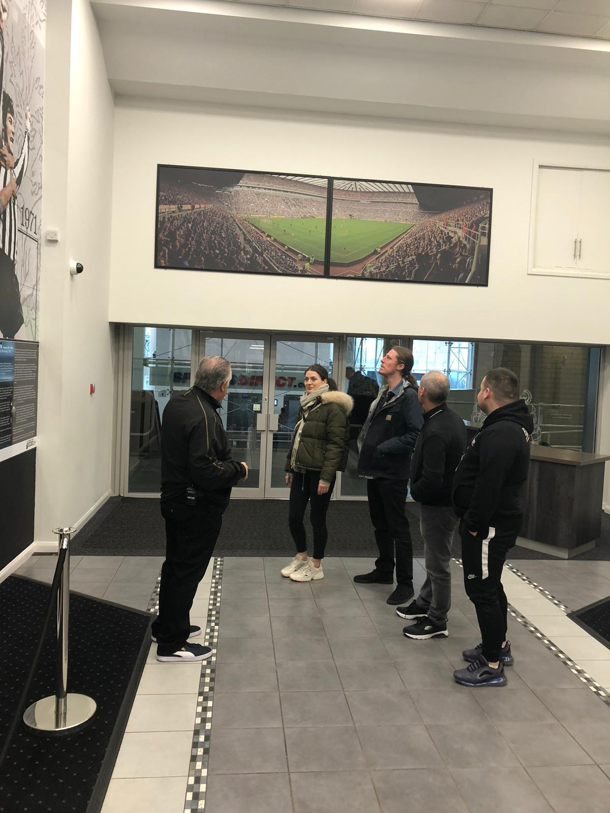 StormGain clients visit to NUFC stadium
