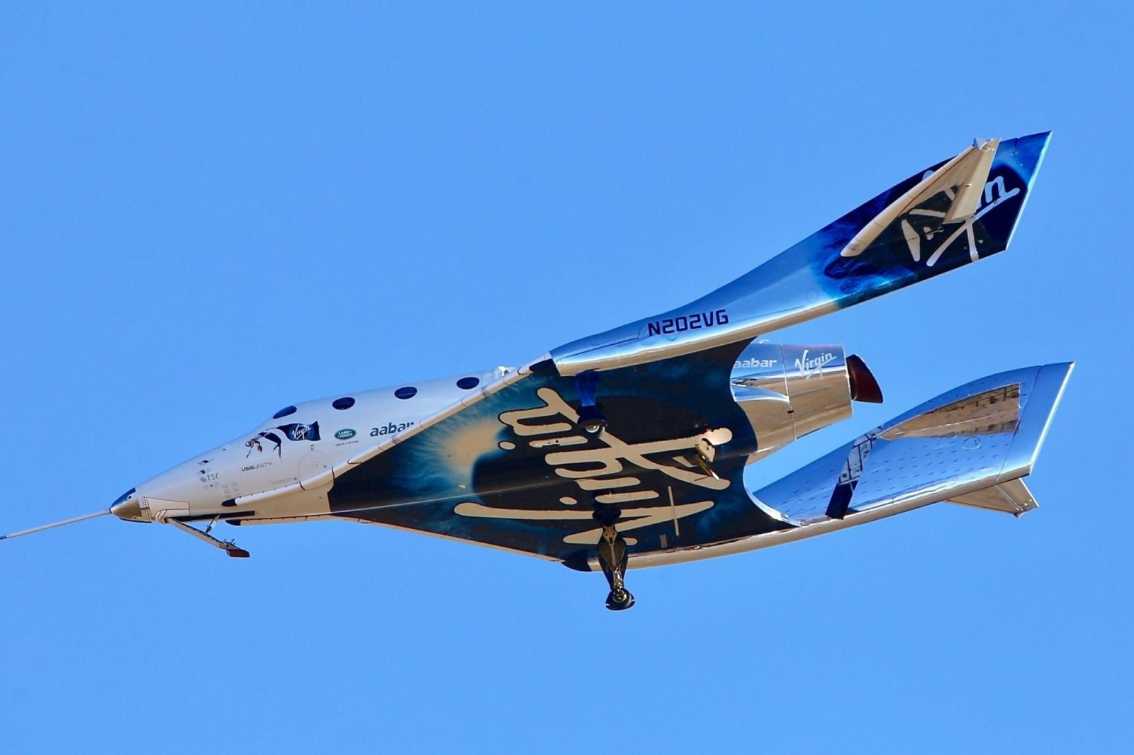 Virgin Galactic aircraft.