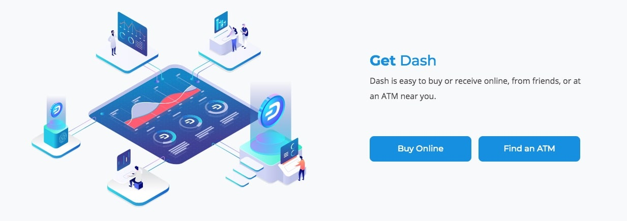 Dash can be freely purchased in any convenient way.