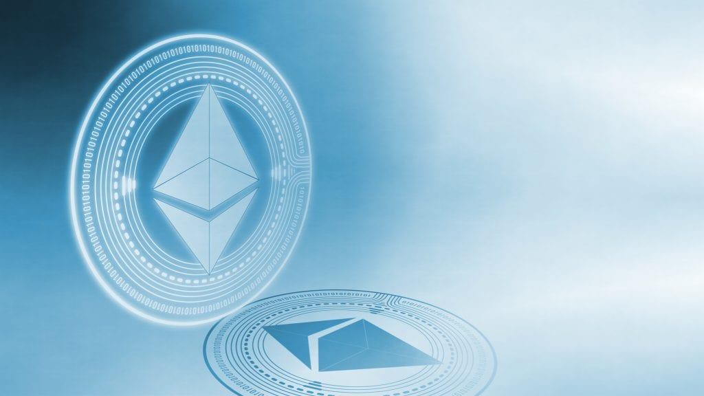Ethereum is symbolically represented by an arrangement of triangles.