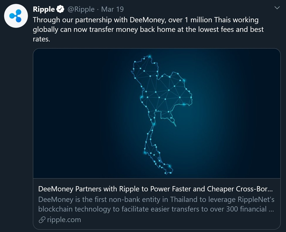 DeeMoney Partners with Ripple to Power Faster