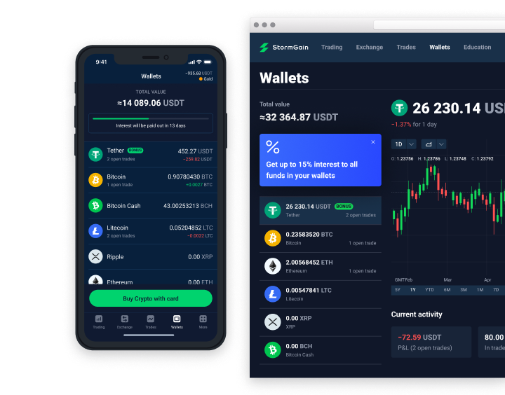 Multi-currency Online Crypto Wallet | StormGain
